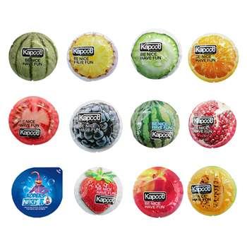 کاندوم کاپوت مدل میوه ای مجموعه 11 عددی به همراه کاندوم ناچ کدکس مدل بلیسر