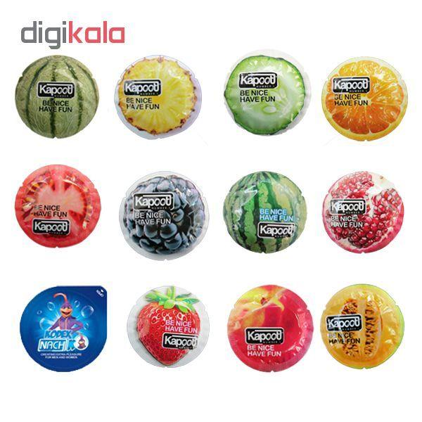 کاندوم کاپوت مدل میوه ای مجموعه 11 عددی به همراه کاندوم ناچ کدکس مدل بلیسر main 1 1