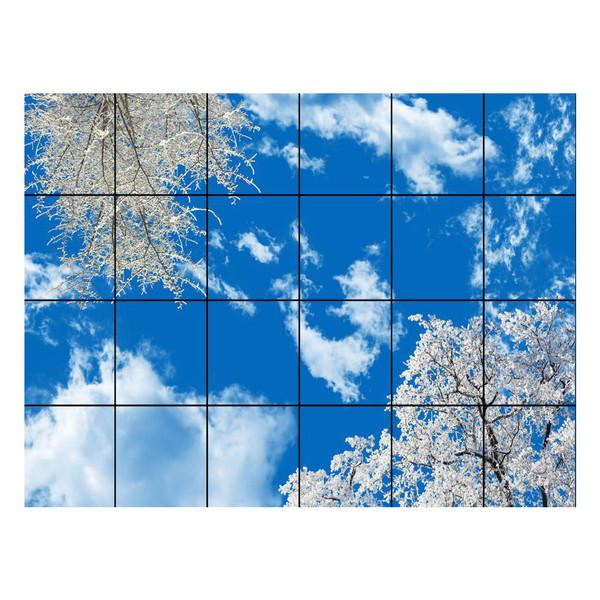 تایل سقفی آسمان مجازی مدل AZ64001 سایز 60*60 سانتی متر بسته 24 عددی
