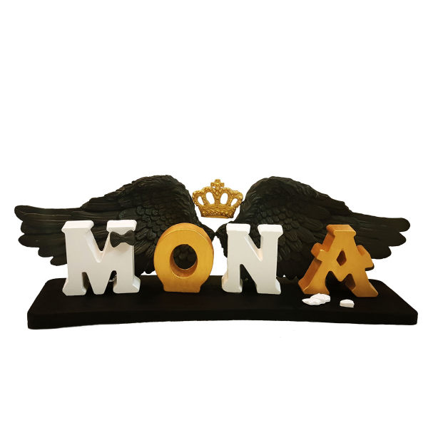 استند اتاق کودک طرح اسم مونا