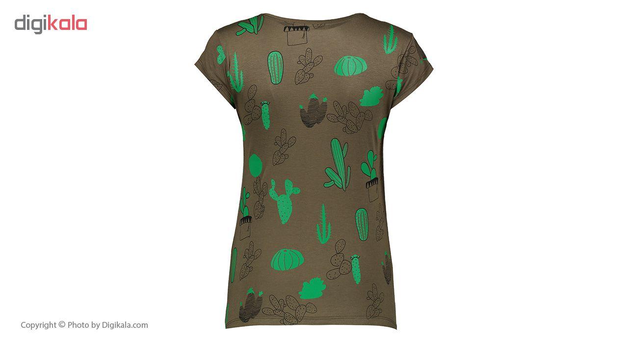 خرید                                      ست تیشرت و شلوارک زنانه افراتین کد 6522 رنگ یشمی