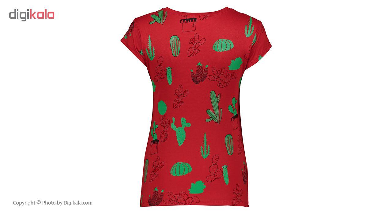 خرید                                      ست تیشرت و شلوارک زنانه افراتین کد 6522 رنگ قرمز