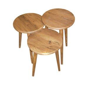 میز عسلی مدل 456 کد 01 مجموعه 3 عددی