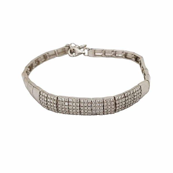 دستبند نقره زنانه ترمه 1 مدل DB 5014