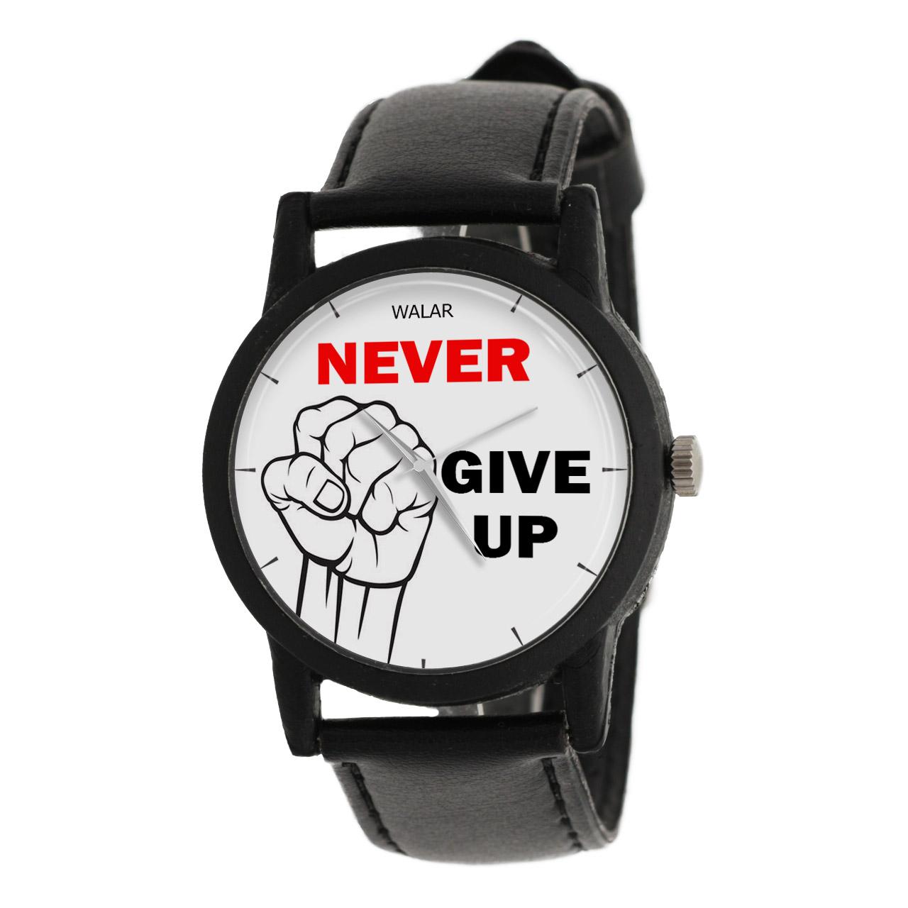 ساعت مچی عقربه ای والار طرح Never Give Up مدل LF1255