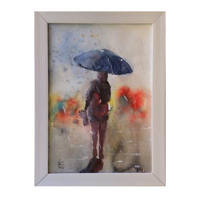 Photo of تابلو نقاشی طرح چتری برای باران مدل RRS98-031
