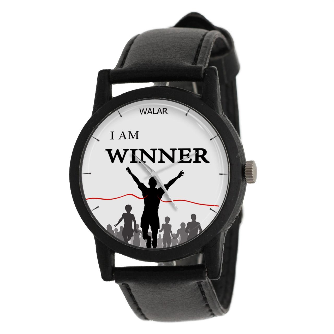 ساعت مچی عقربه ای والار طرح I Am Winner مدل LF1257