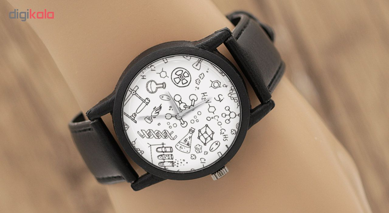 کد تخفیف                                      ساعت مچی عقربه ای طرح شیمی مدل LF1270