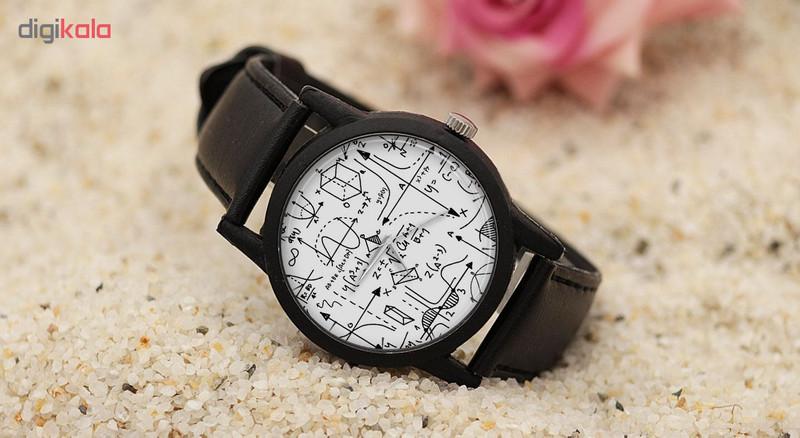 ساعت مچی عقربه ای طرح ریاضی مدل LF1271