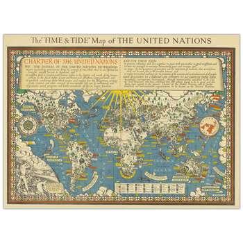 تابلو شاسی پالمیرا طرح نقشه تاریخی جهان کد MAP127