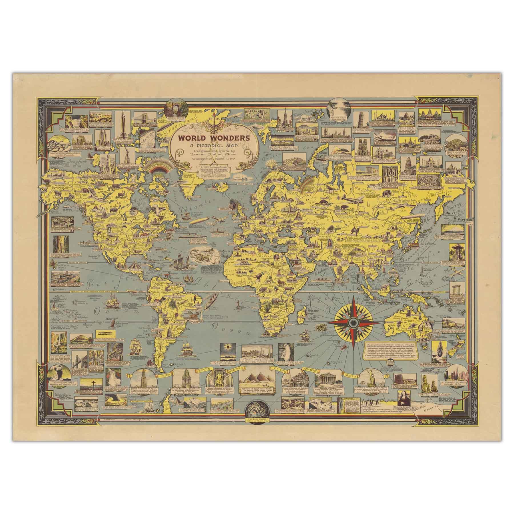 تابلو شاسی پالمیرا طرح نقشه تاریخی عجایب جهان کد MAP113