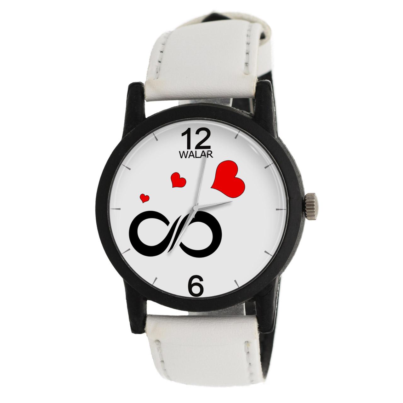 ساعت مچی عقربه ای زنانه والار طرح بی نهایت مدل LF1474