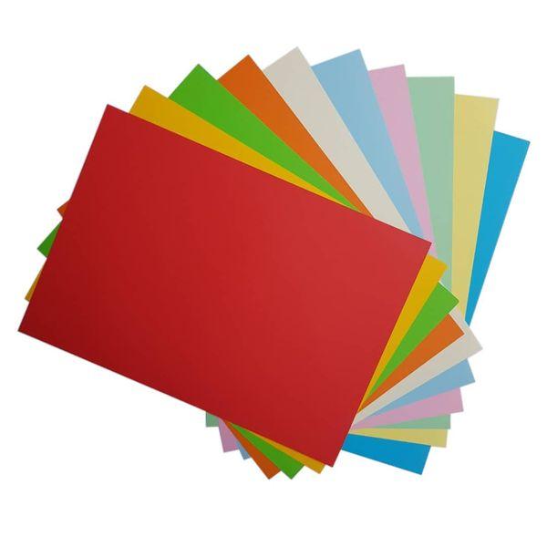 کاغذ رنگی A4 مدل کالرفول کد S10 بسته ۱۰۰ عددی