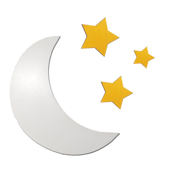 چراغ خواب دیواری طرح ماه و ستاره