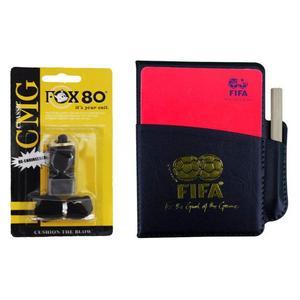 کارت داوری فوتبال مدل FIFA-318 به همراه سوت داوری