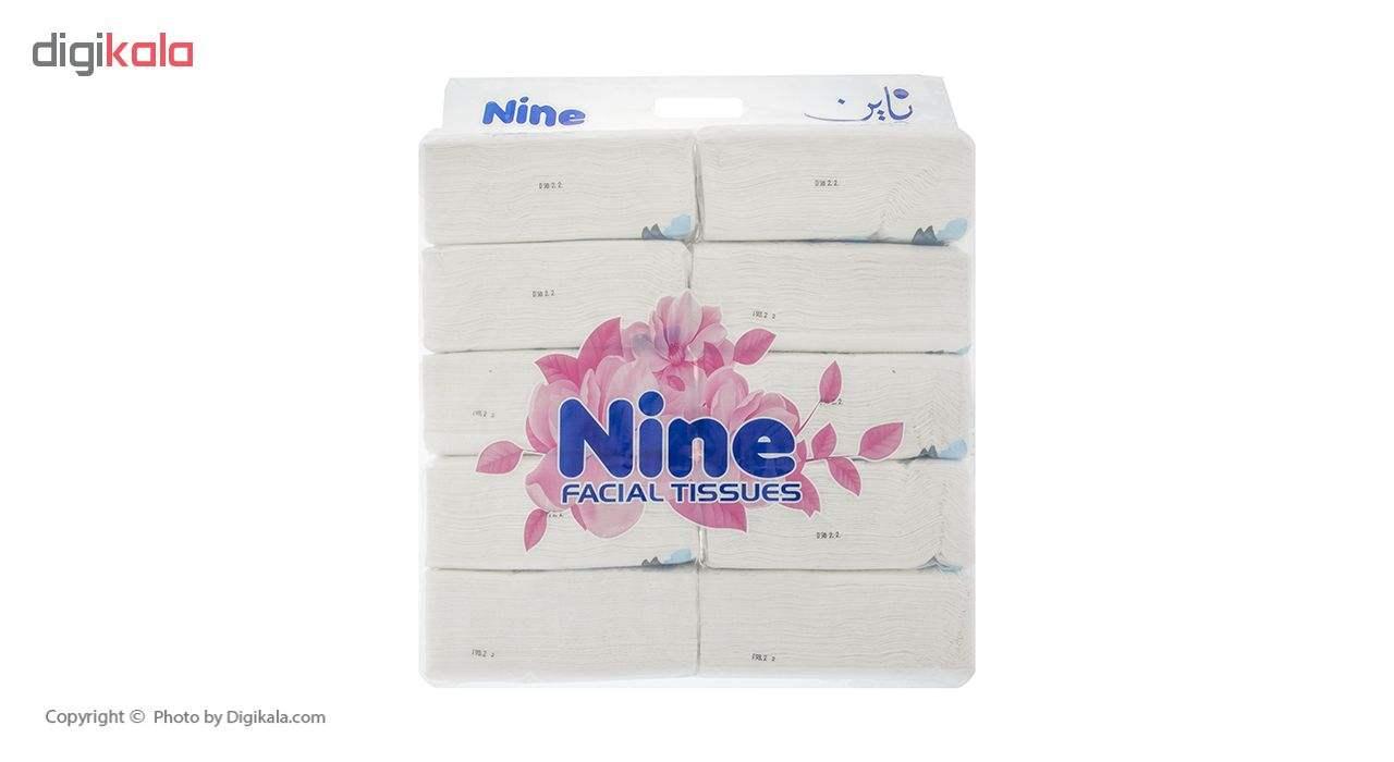 دستمال کاغذی 100 برگ ناین مدل Blue بسته 10 عددی main 1 1