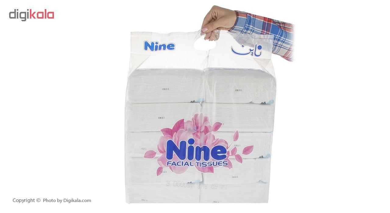 دستمال کاغذی 100 برگ ناین مدل Blue بسته 10 عددی main 1 3