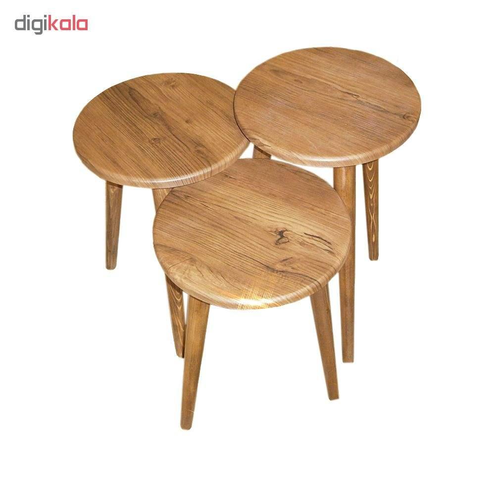 میز عسلی مدل 456 کد 01 مجموعه 3 عددی main 1 2
