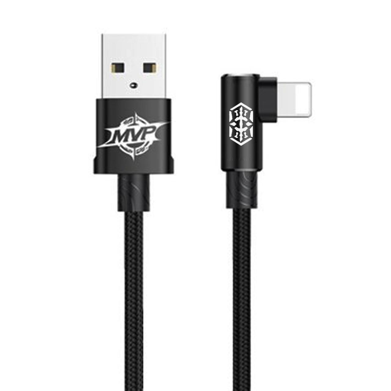 کابل تبدیل USB به لایتنینگ باسئوس مدل MVPBOW طول 1 متر
