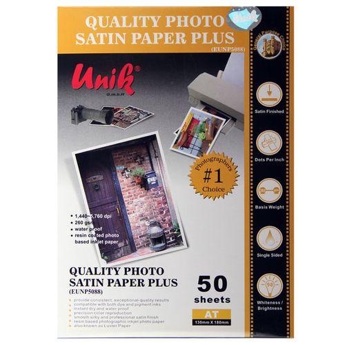 کاغذ چاپ عکس ساتین یونیک کد 5088 سایز 18×13 سانتی متر بسته 50 عددی