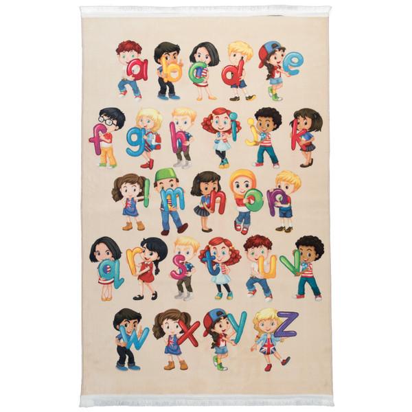 فرش ماشینی محتشم طرح کودک کد 100207 زمینه کرم
