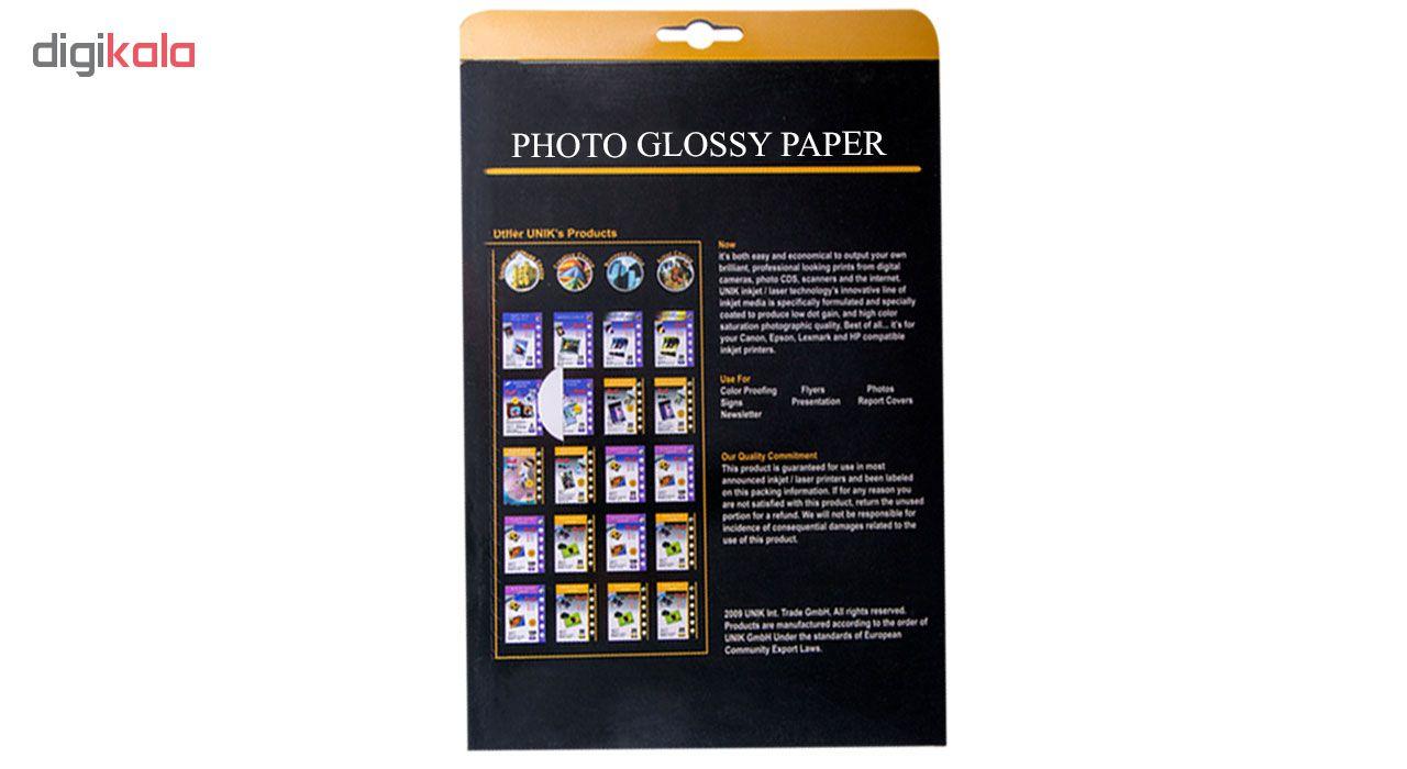 قیمت                      کاغذ چاپ عکس گلاسه یونیک کد 8260 سایز A4 بسته 50 عددی
