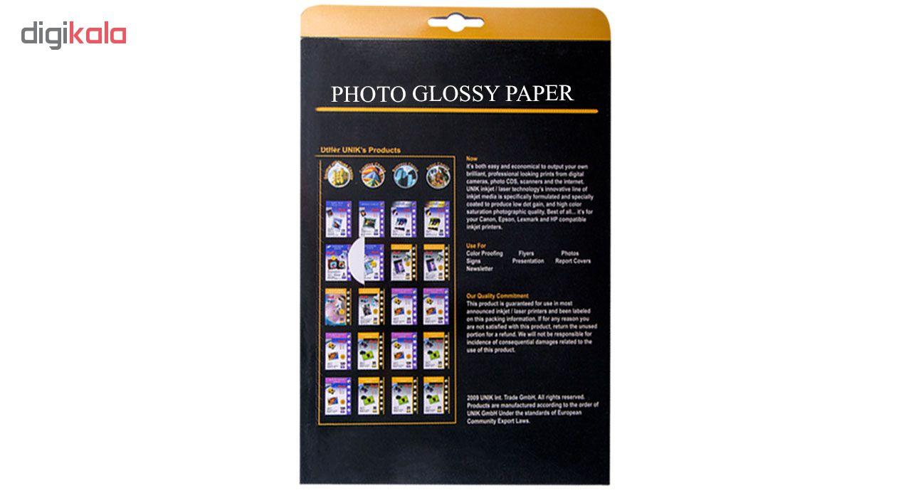 قیمت                      کاغذ چاپ عکس گلاسه یونیک کد 5230 سایز A4 بسته 50 عددی