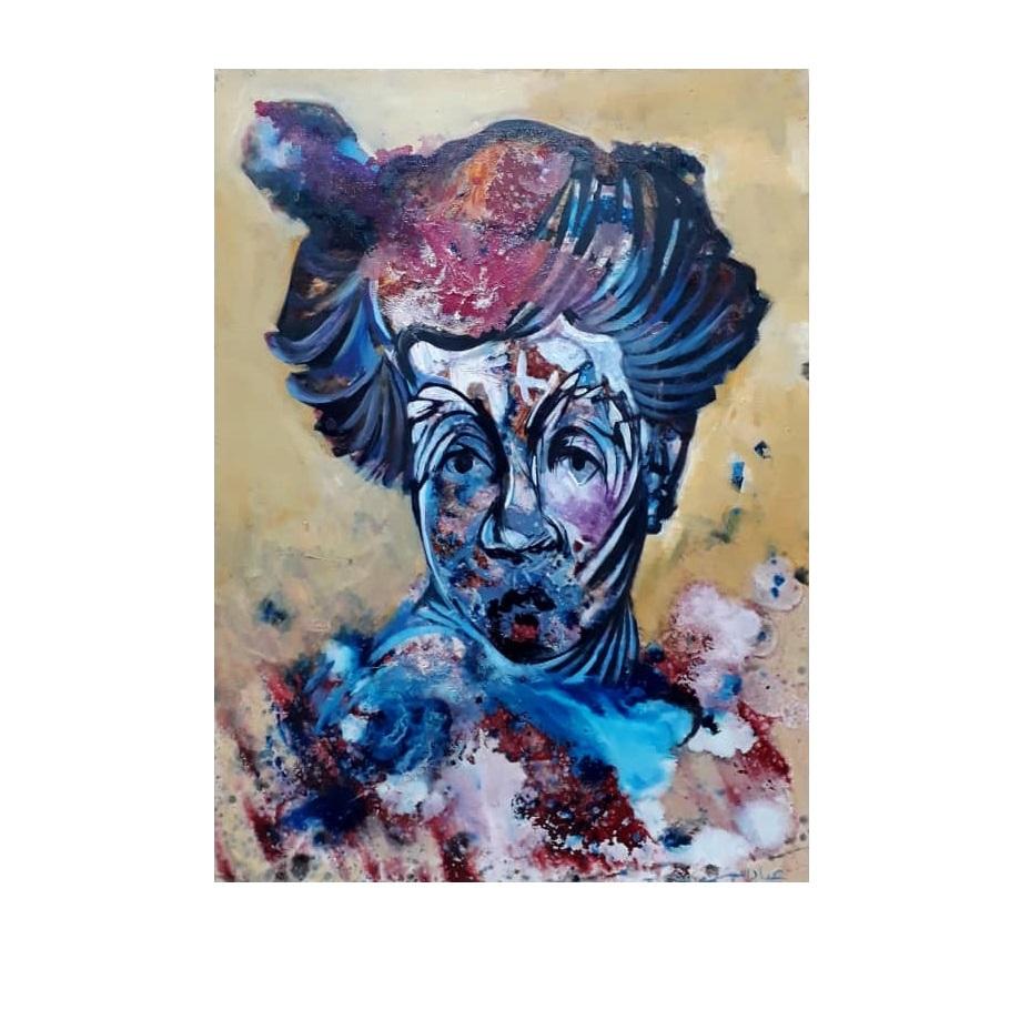 خرید                      تابلو نقاشی طرح پرتره دلقک