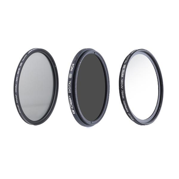 فیلتر لنز کی اند اف مدل KF 72mm مجموعه 3 عددی