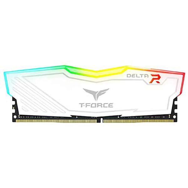 رم دسکتاپ DDR4 دو کاناله 3000 مگاهرتز CL15 تیم گروپ مدل T-Force Delta RGB ظرفیت 16 گیگابایت