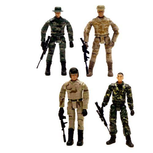 اسباب بازی جنگی طرح سرباز اسلحه دار بسته 4 عددی