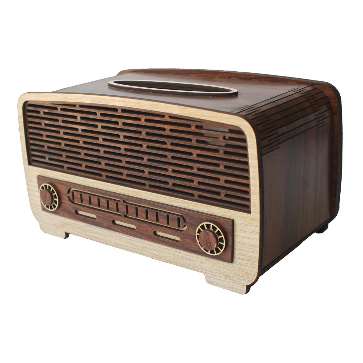 جعبه دستمال کاغذی طرح رادیو کدdr1