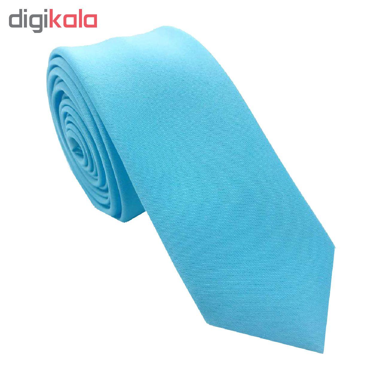 کراوات مردانه هکس ایران مدل OM-BL1 مجموعه 3 عددی