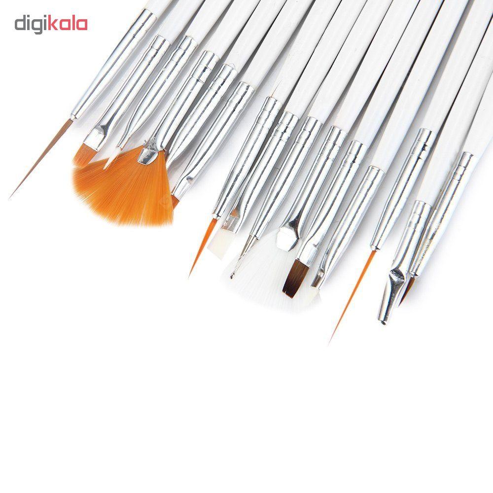 قلم موی طراحی ناخن مدل 702D بسته 15 عددی