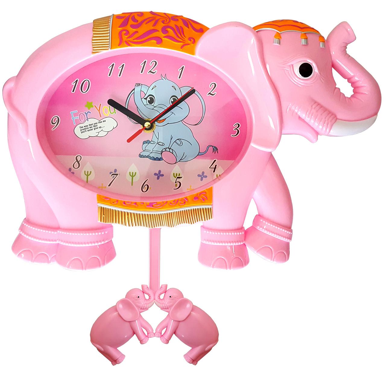 ساعت دیواری کودک طرح فیل