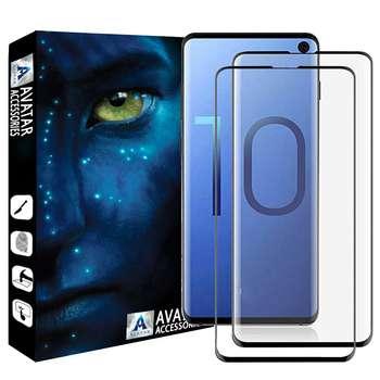 محافظ صفحه نمایش آواتار مدل SS10P-2 مناسب برای گوشی موبایل سامسونگ Galaxy S10 plus بسته دو عددی