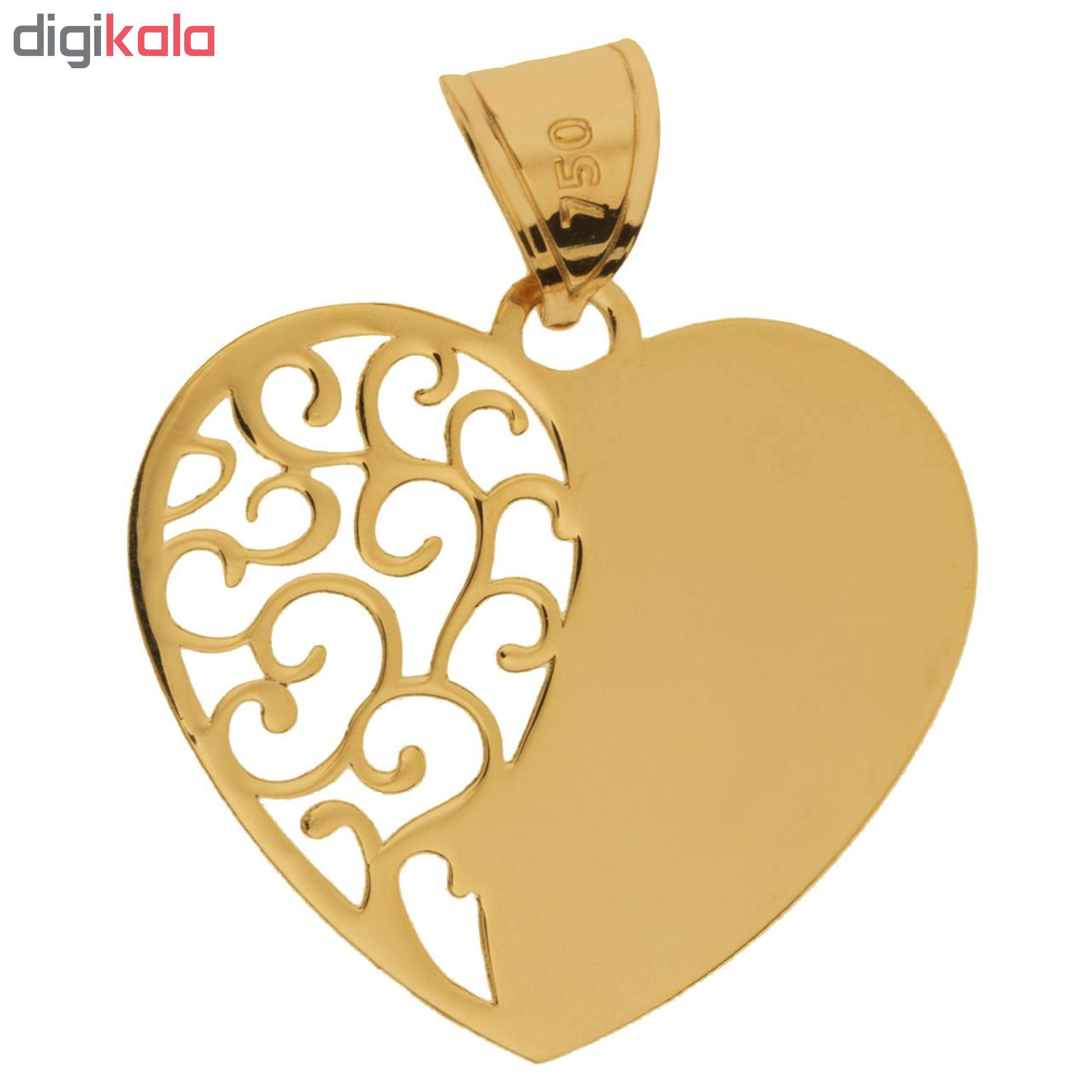 خرید                                      آویز گردنبند طلا 18عیار زنانه طرح قلب کد SG064