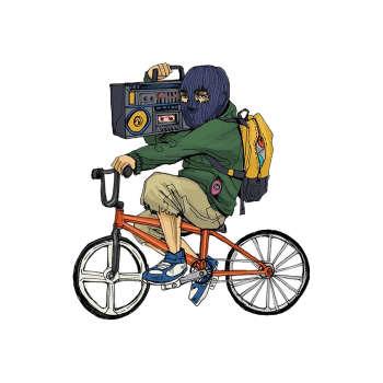 استیکر لپ تاپ طرح دوچرخه سوار کد STL566