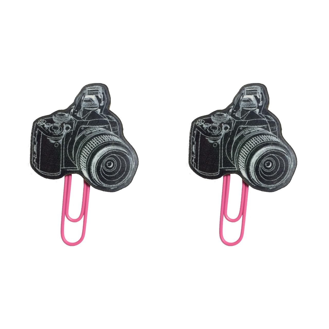 گیره کاغذ طرح دوربین بسته 2 عددی