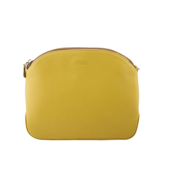 کیف دوشی زنانه مارال چرم مدل ستایش