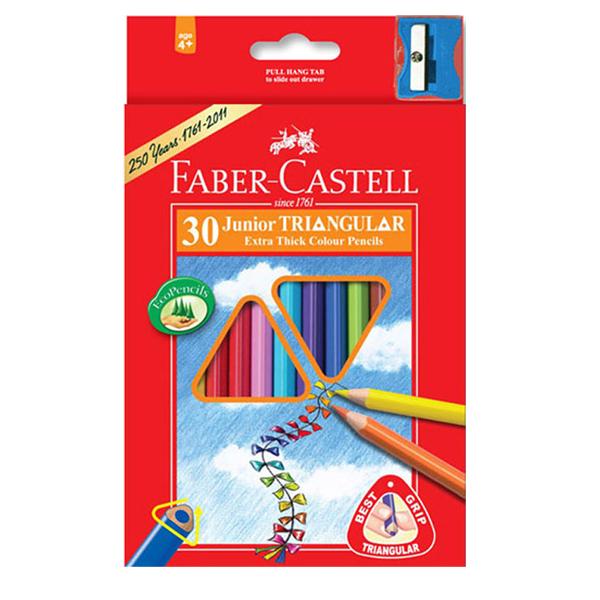 مداد رنگی 30 رنگ فابرکاستل مدل junior