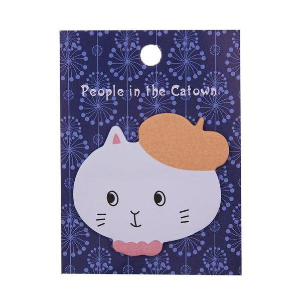 کاغذ یادداشت چسب دار طرح گربه کد 0408-98
