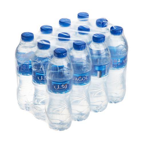 آب معدنی وگل حجم 500 میلی لیتر بسته 12 عددی