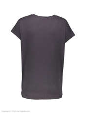 تی شرت نخی یقه گرد زنانه - ویولتا بای مانگو - طوسی - 3
