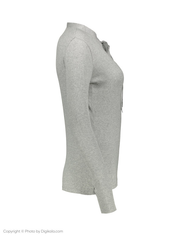 تی شرت نخی آستین بلند زنانه - مانگو