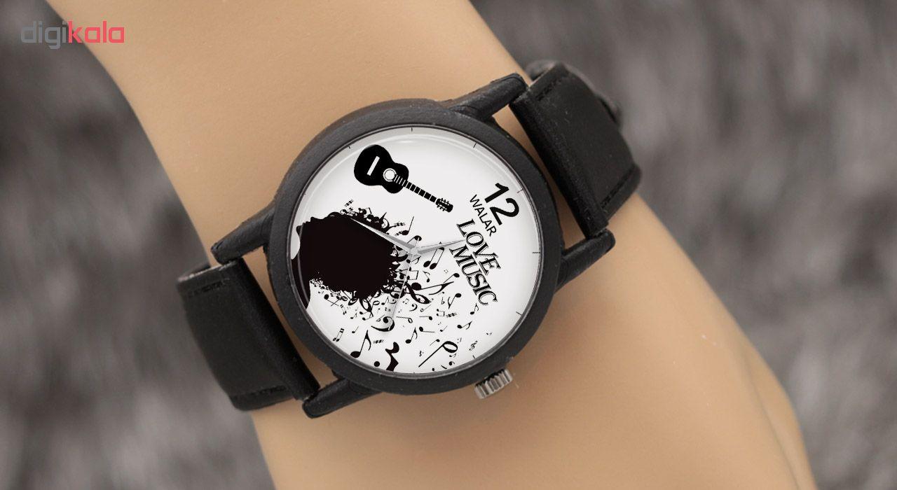 ساعت مچی عقربه ای والار طرح موسیقی مدل LF1325