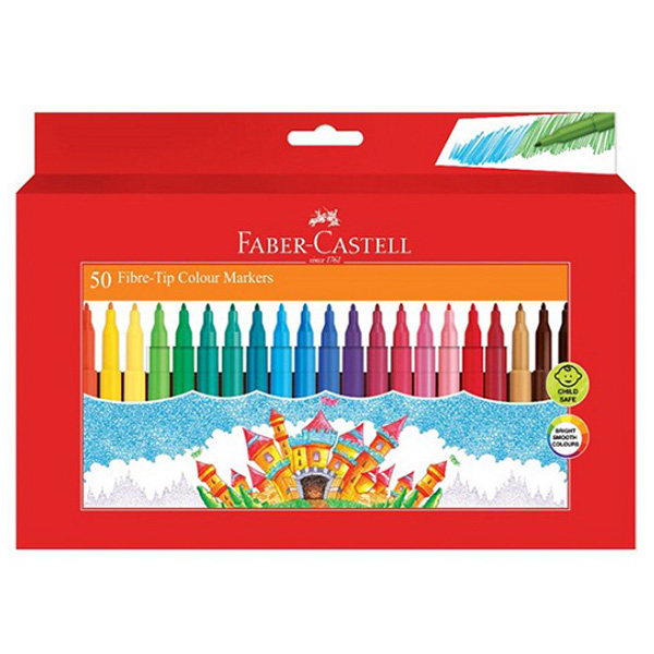ماژیک رنگ آمیزی 50 رنگ فابر کاستل مدل قلعه
