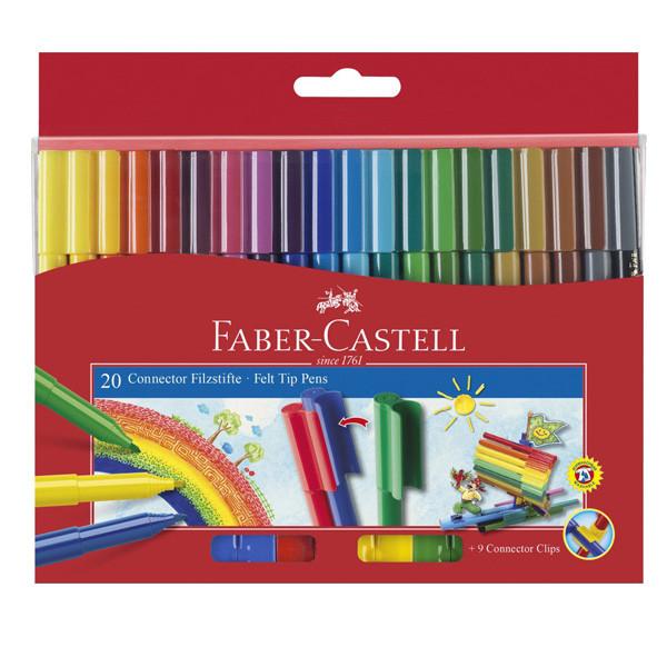 ماژیک رنگ آمیزی 20 رنگ فابر کاستل مدل رنگین کمان