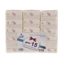 دستمال کاغذی 100 برگ دو لایه ایزی پیک مدل Flower بسته 15 عددی