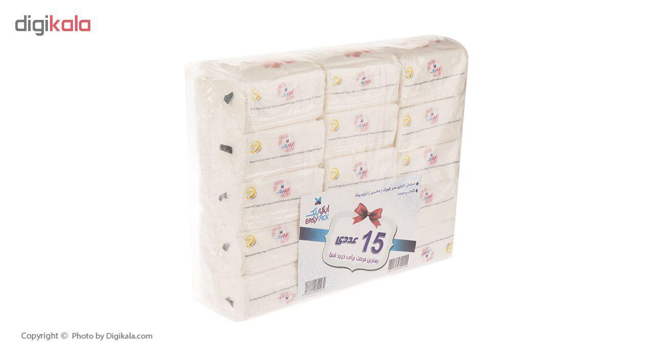 دستمال کاغذی 100 برگ ایزی پیک مدل Flower بسته 15 عددی main 1 2